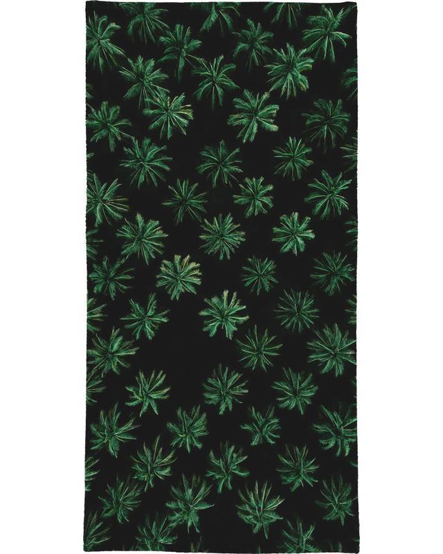 Sleeping Palm Trees Beach Towel