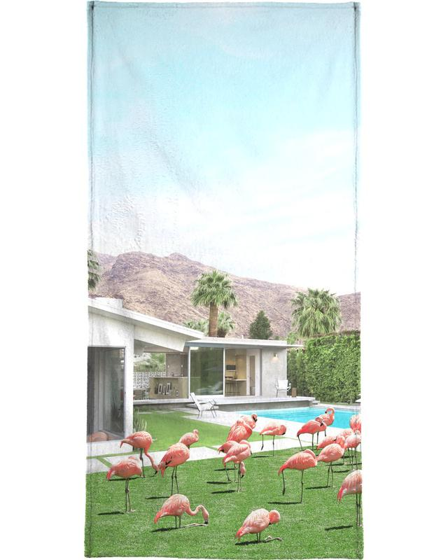 Flamingos in Palm Springs -Strandtuch