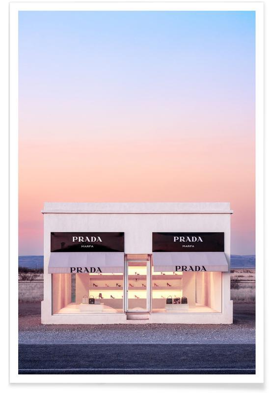 Photographie du Prada de Marfa affiche