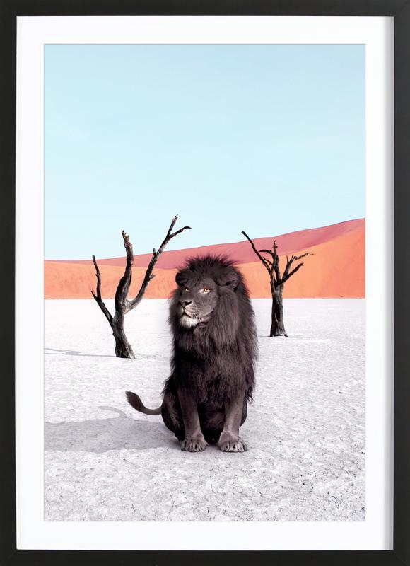 Namibia -Bild mit Holzrahmen