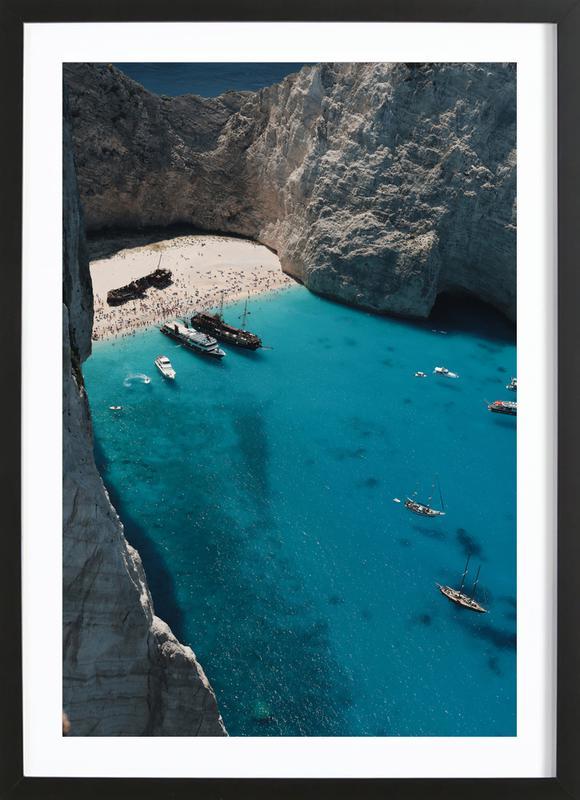 Greece ingelijste print