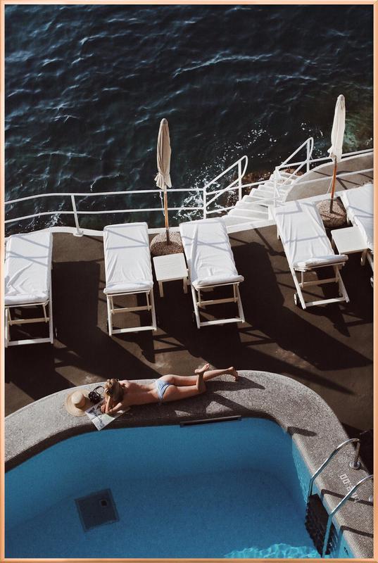 Swimming Pool Poster im Alurahmen | Garten > Swimmingpools > Schwimmbecken | Mehrfarbig