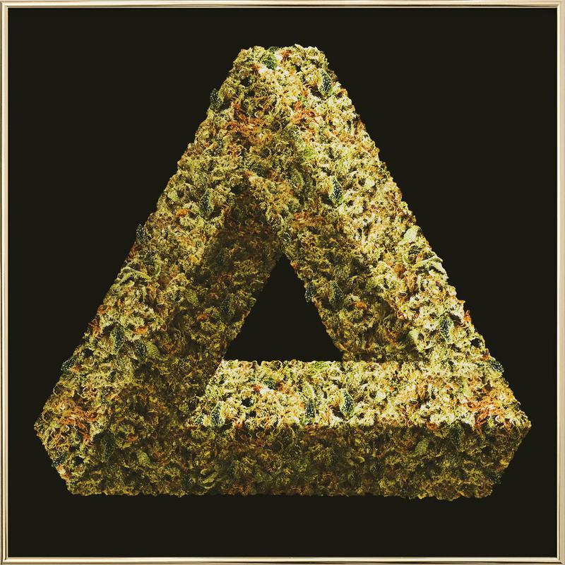 Weed Penrose Triangle Poster im Alurahmen | Dekoration > Bilder und Rahmen > Poster | Mehrfarbig