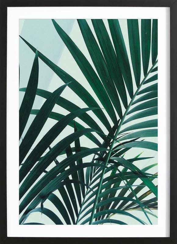 Palm Leaves -Bild mit Holzrahmen