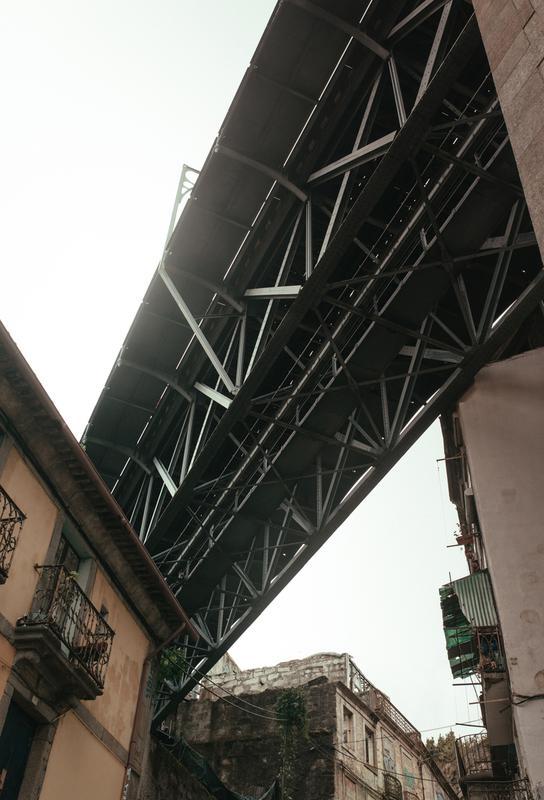 Bridge in Porto Aluminium Print