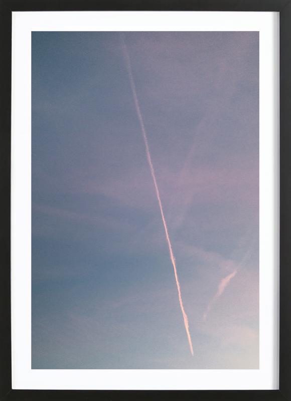 Dreamy Skies IV -Bild mit Holzrahmen