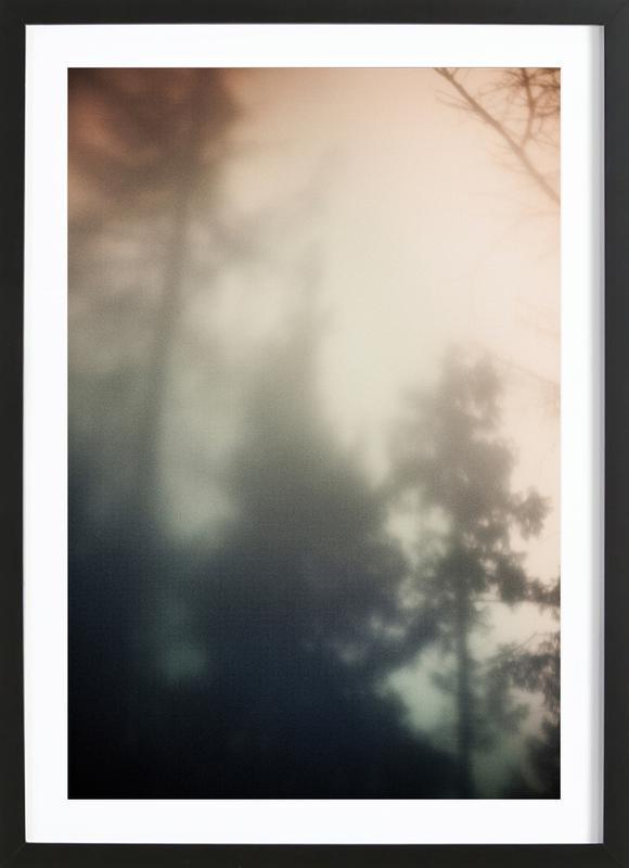 Treetops -Bild mit Holzrahmen