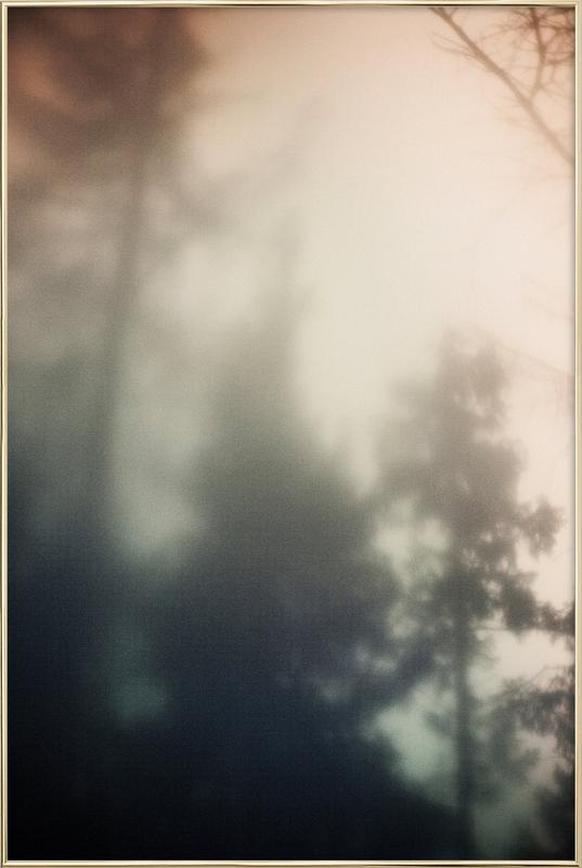 Treetops -Poster im Alurahmen