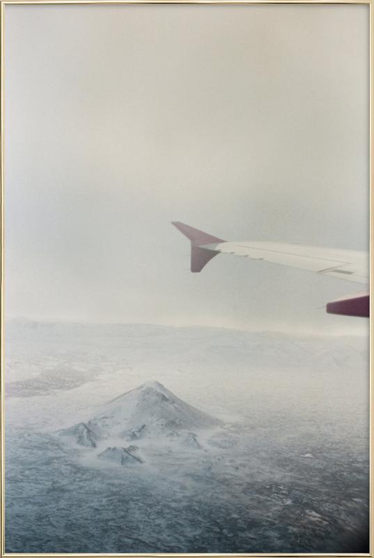 Iceland -Poster im Alurahmen