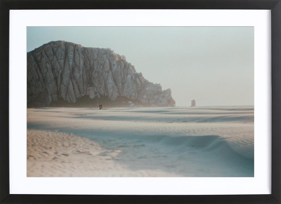 California -Bild mit Holzrahmen