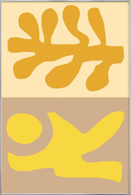 Golden Hair -Poster im Alurahmen