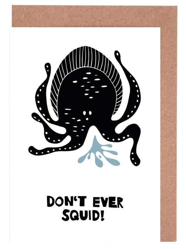 Don't Ever Squid! Greeting Card Set