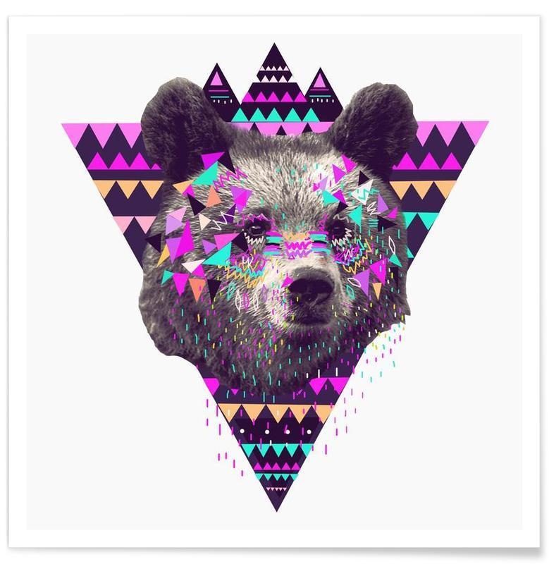 Piniata Bear Premium Poster | Dekoration > Bilder und Rahmen > Poster | Mehrfarbig