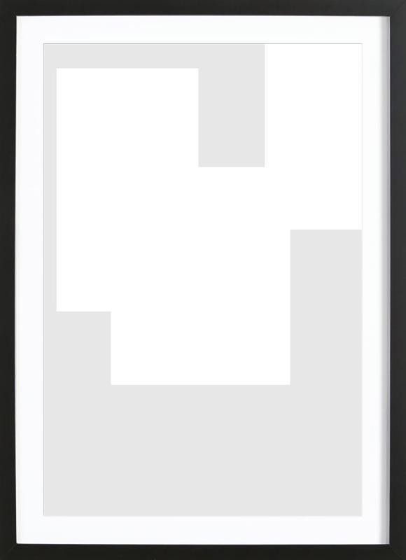 Three White Ones -Bild mit Holzrahmen