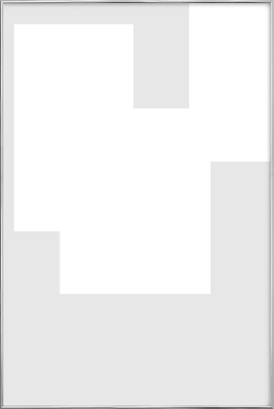 Three White Ones -Poster im Alurahmen