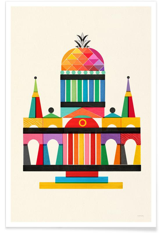 Pineapple Cathedral Architecture poster