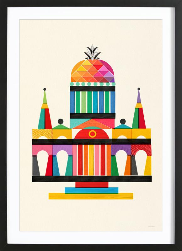 Pineapple Cathedral Architecture ingelijste print