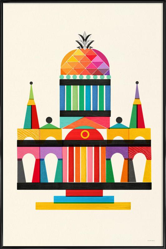 Pineapple Cathedral Architecture ingelijste poster