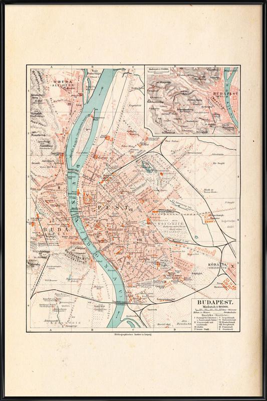 Budapest, Hungary, 1899 Framed Poster