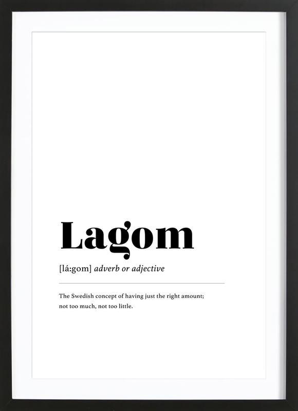 Lagom affiche sous cadre en bois