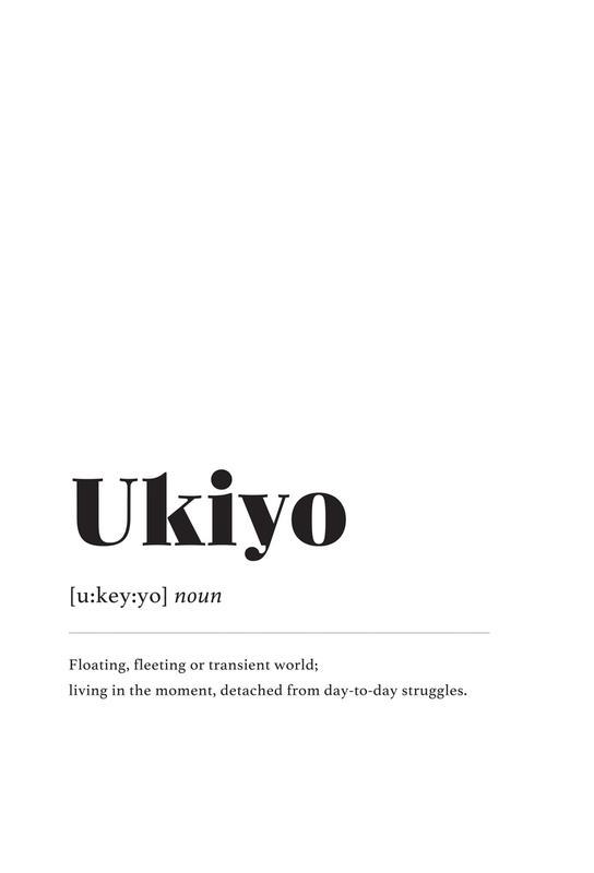Ukiyo -Acrylglasbild