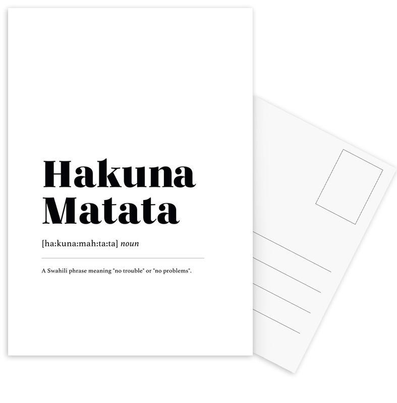 Hakuna Matata Postcard Set