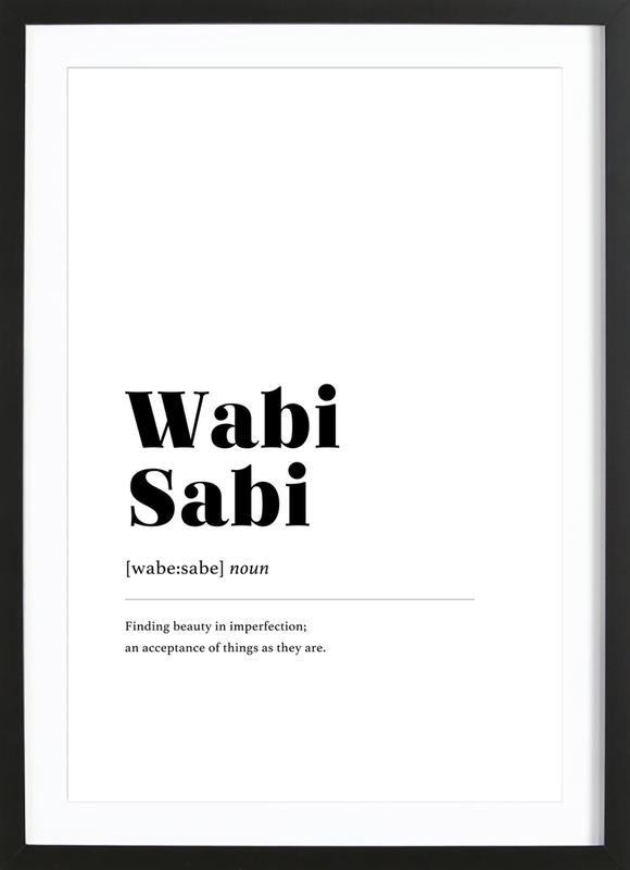 Wabi-Sabi -Bild mit Holzrahmen