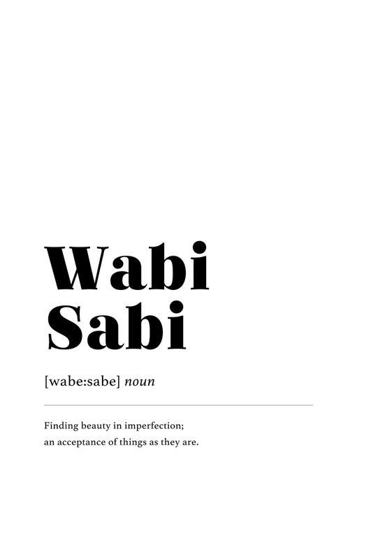 Wabi-Sabi -Acrylglasbild