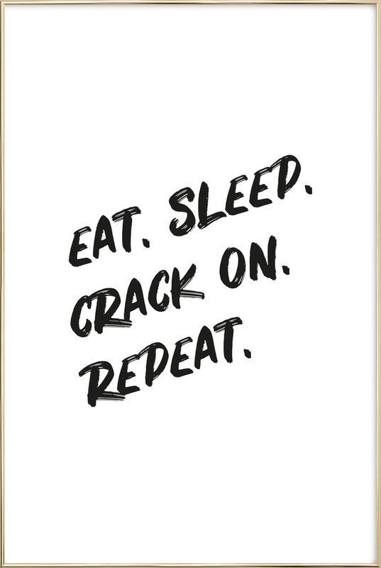 Crack On -Poster im Alurahmen