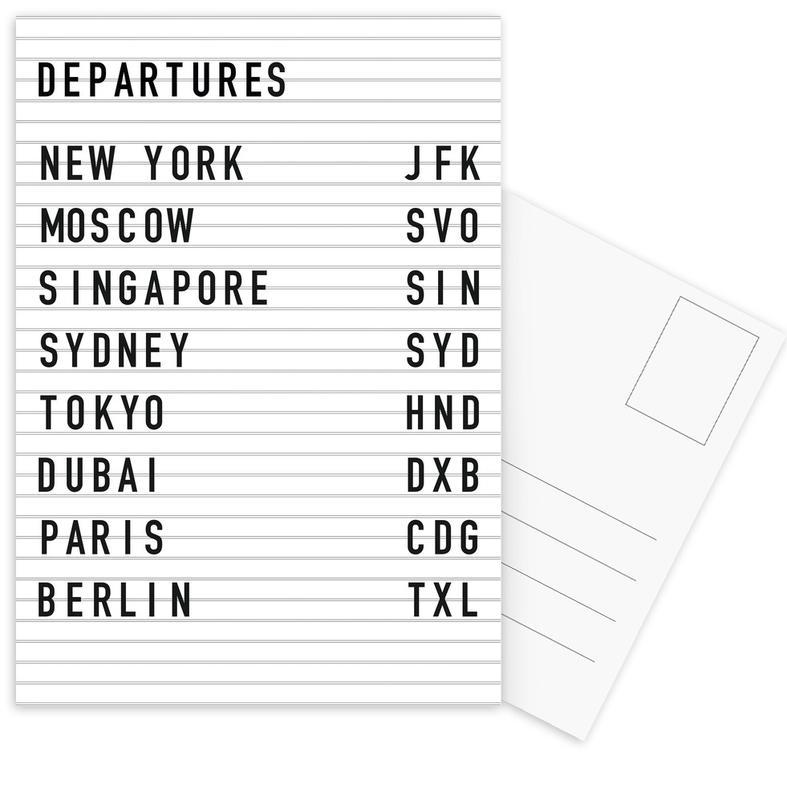 Departure New York cartes postales