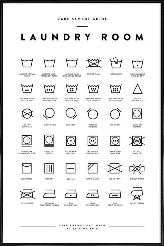 Laundry affiche encadrée