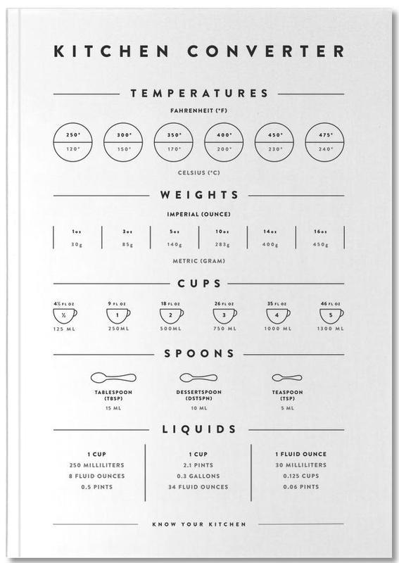 Kitchen Conversion Measurements Notebook