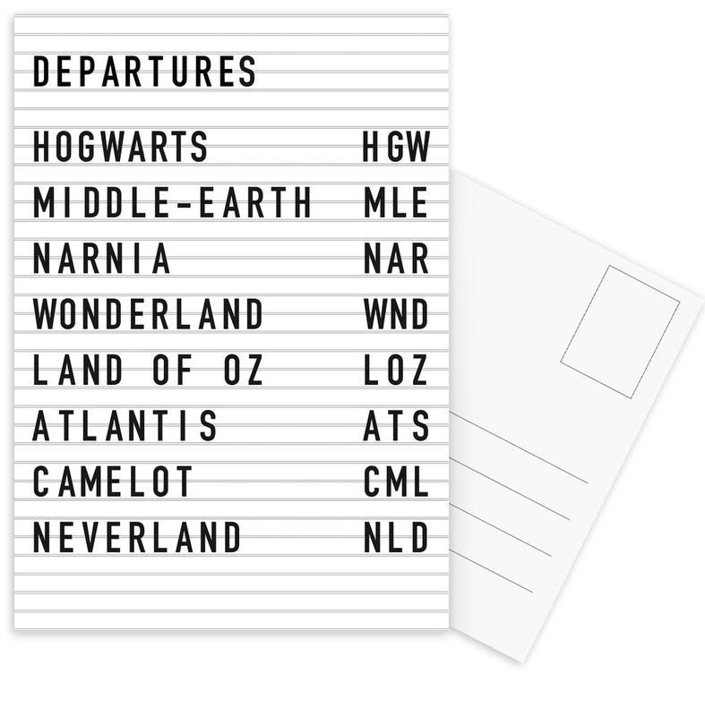 Fantasy Destinations -Postkartenset