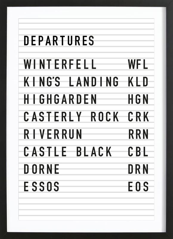 Game of Thrones Destinations Poster i träram