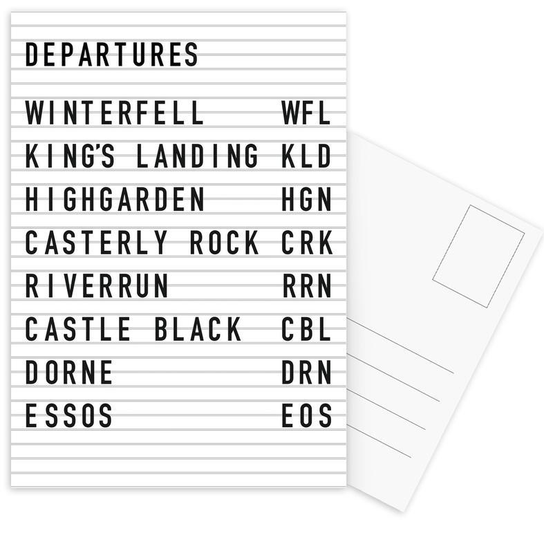 Game of Thrones Destinations Postcard Set