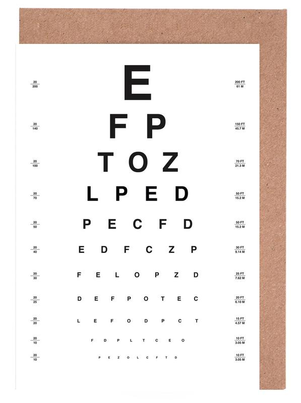 Eye Chart Greeting Card Set