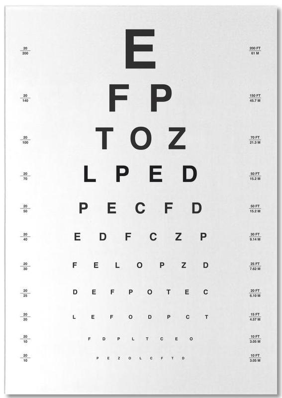 Eye Chart Notepad