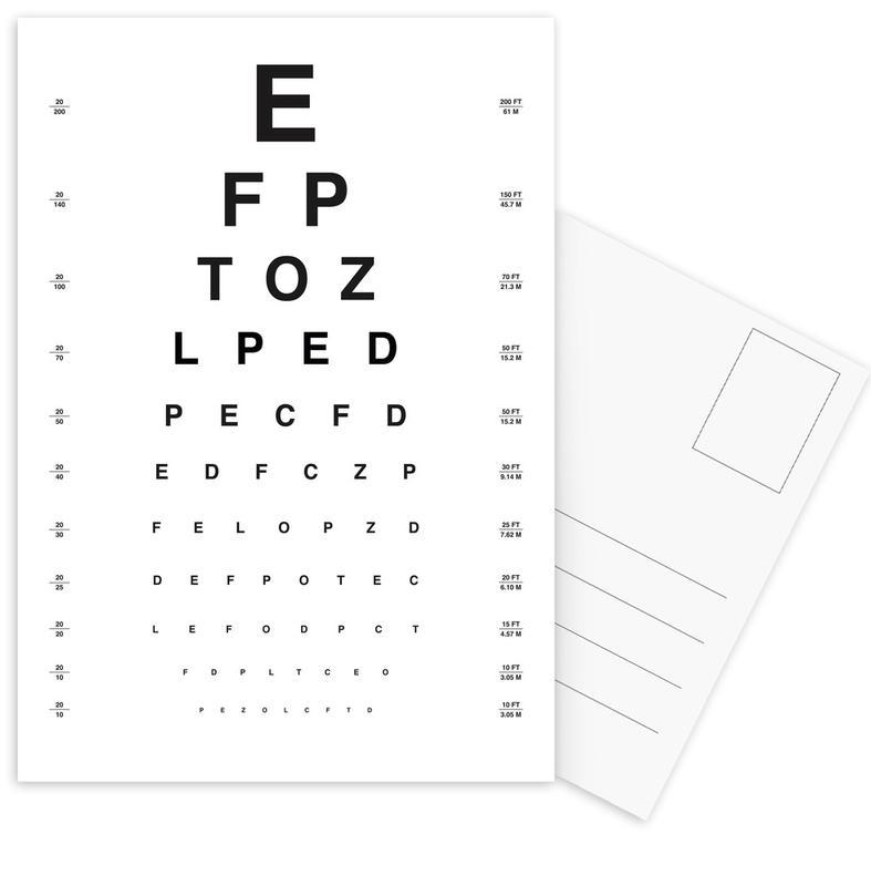 Eye Chart -Postkartenset