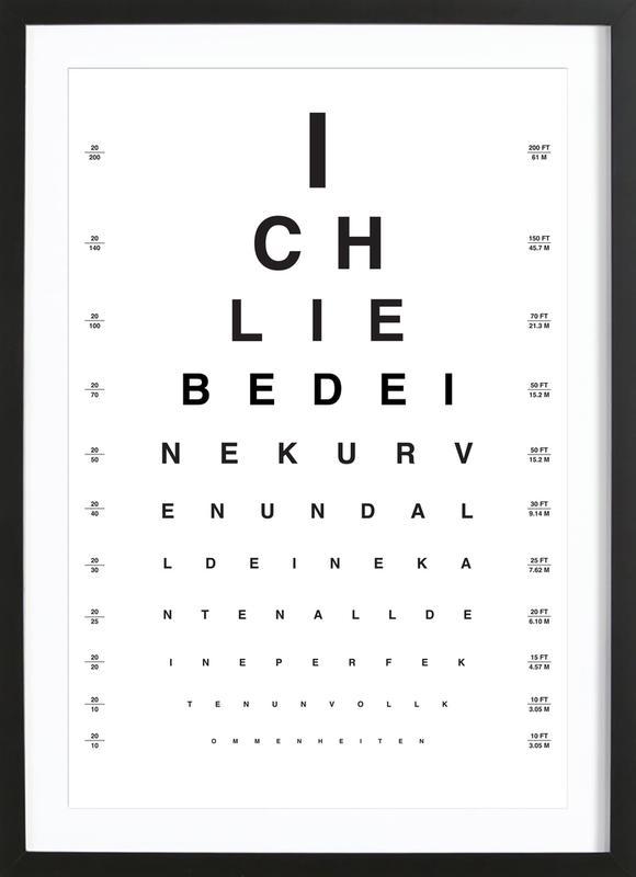 Eye Chart Ich Liebe Dich Framed Print