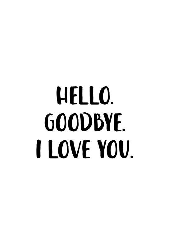 Hello Goodbye Impression sur alu-Dibond