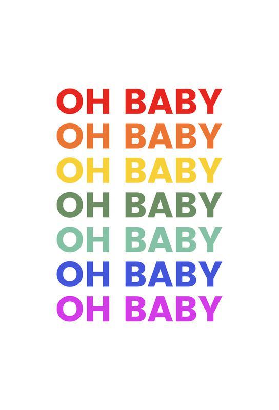 Oh Baby Rainbow Acrylic Print