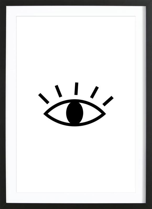 Open Eye -Bild mit Holzrahmen