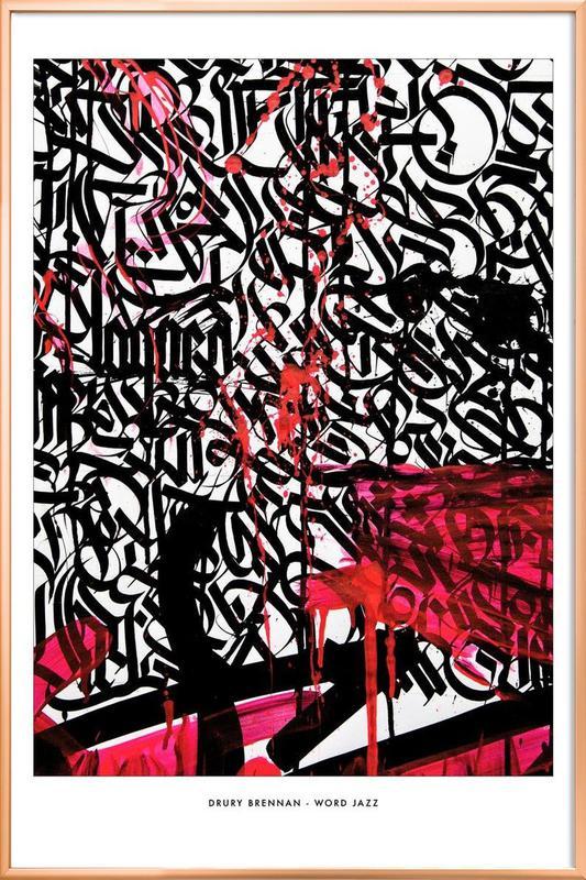 Word Jazz Poster im Alurahmen | Dekoration > Bilder und Rahmen > Poster | Mehrfarbig