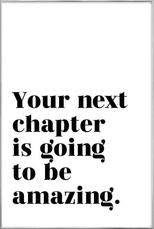 Next Chapter affiche sous cadre en aluminium