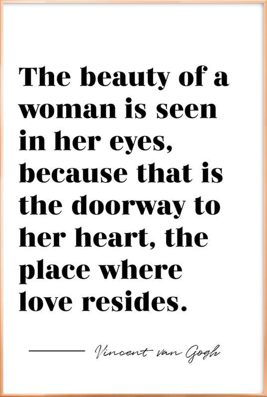 A Woman's Beauty affiche sous cadre en aluminium