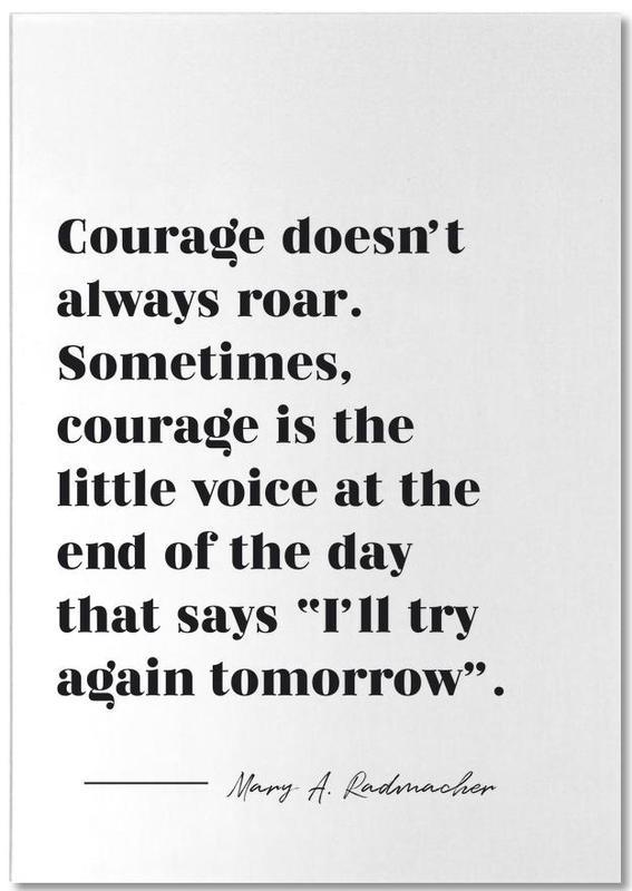 Courage bloc-notes