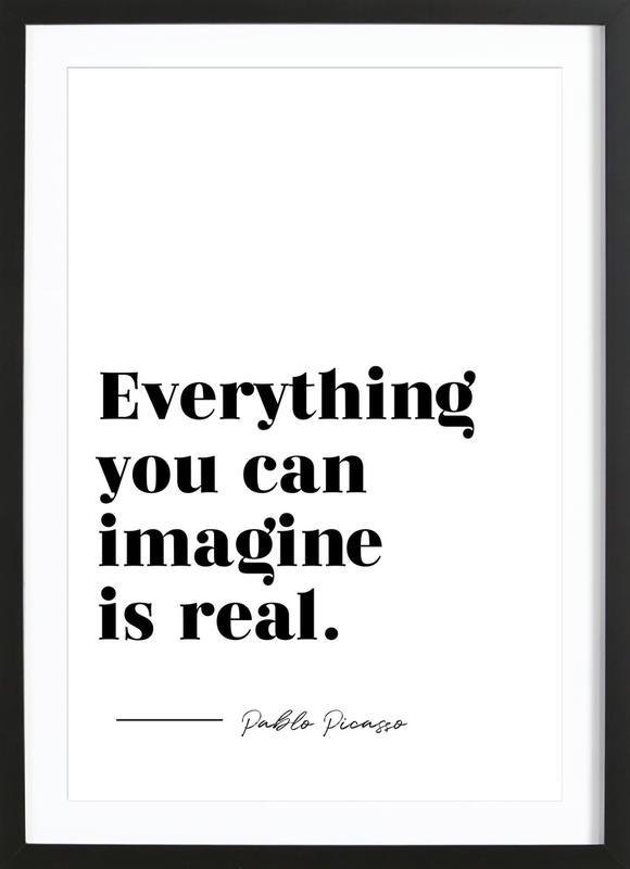 Everything is Real -Bild mit Holzrahmen