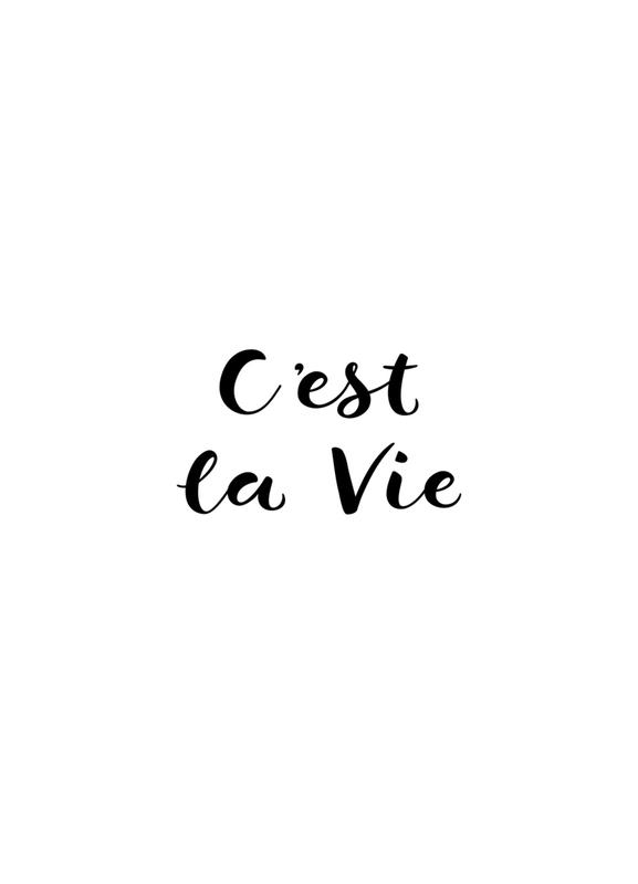 C'est la Vie toile