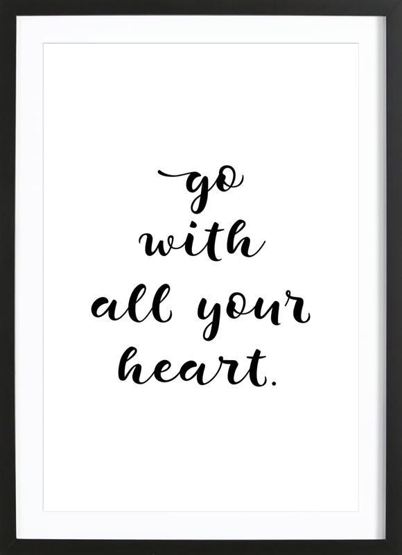 All Your Heart Framed Print