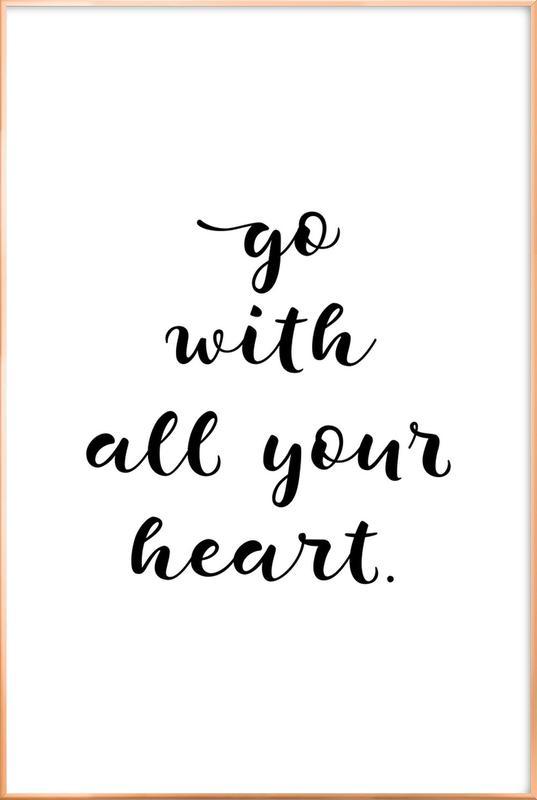 All Your Heart affiche sous cadre en aluminium